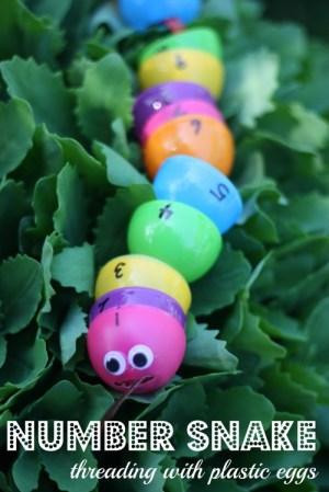 Easter Egg Number Snake Threading