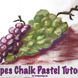 Grapes Chalk Pastel Tutorial from Hodgepodge