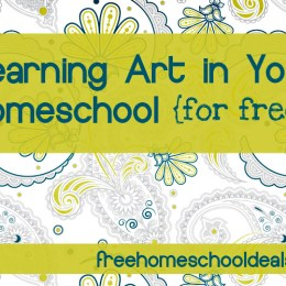 Free & Frugal Ways to Learn Art in Your Homeschool
