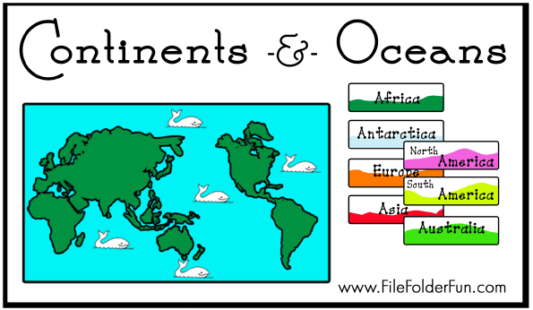 Free continents oceans file folder game free homeschool deals free continents oceans file folder game gumiabroncs Gallery