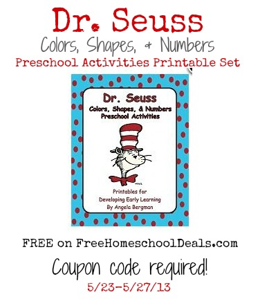 FREE Dr. Seuss Colors, Shapes, & Numbers Preschool Activities ...