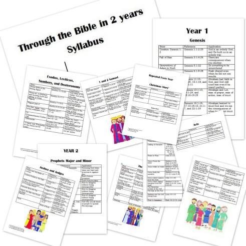 Free Bible Curriculum: Family Bible Curriculum 2 Year Syllabus