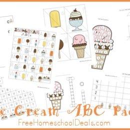 Free Ice Cream ABC Printable Pack