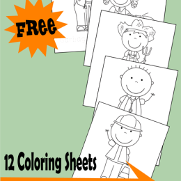 12 Free Community Helpers Coloring Sheets