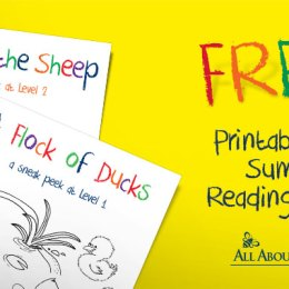 FREE Printables for Summer Reading Practice from All About Reading