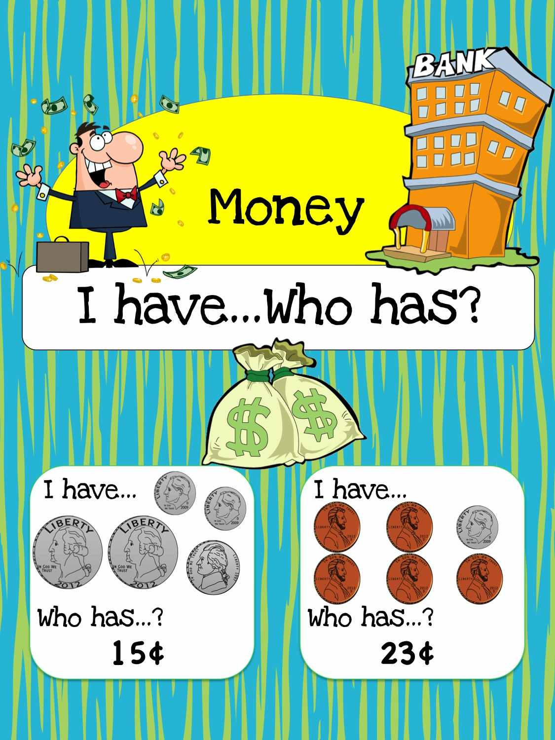 Free Printable Math Game Money I Have Who Has