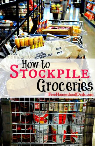 how to stockpile groceries