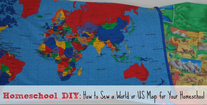Homeschool diy how to sew a world or us map for your homeschool for the world map i bought 2 yards of value fabric solid colors from walmart for the us map i bought 15 yards i had extra fabric but i used the extra gumiabroncs Choice Image