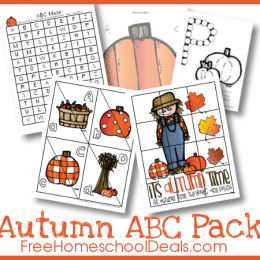 Free Autumn Themed ABC Printable Pack (Instant Download)
