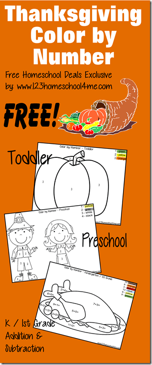 Thanksgiving: Free Download Thanksgiving Color by Number ...