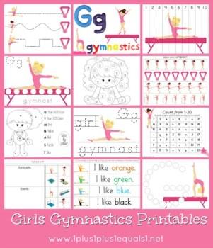 Free Girls Gymnastics Printables