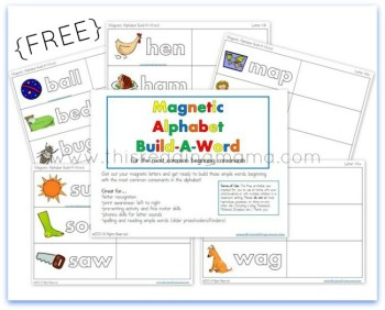 FREE Magnetic Alphabet Build-a-Word