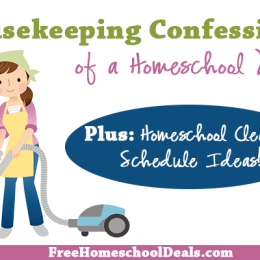 Housekeeping Confessions of a Homeschool Mom (+ Homeschool Cleaning Schedule Ideas!)