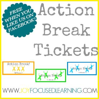 Action Break Tickets Free Printable
