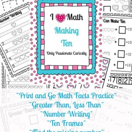 Free Heart Themed Math Printables Pack