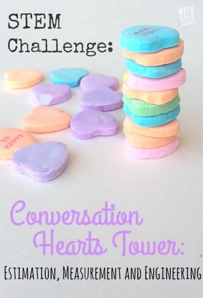 Conversation Heart Tower STEM
