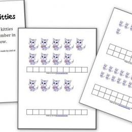 Free Counting Kitties Math Printables for PreK/K