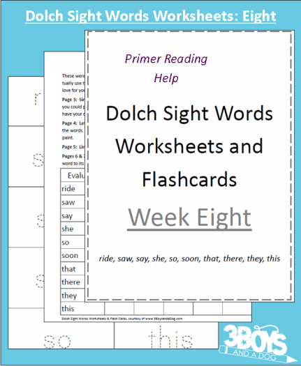 Free Printable Dolch Sight Words Worksheets Drive