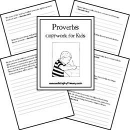 Free Proverbs for Kids Copywork Pages