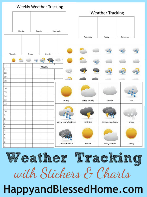 science free weather tracking printables free homeschool deals. Black Bedroom Furniture Sets. Home Design Ideas