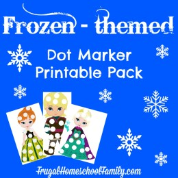 Free Frozen-themed Dot Marker Printables