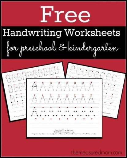 Free Printable Handwriting Worksheets For Preschool Kindergarten