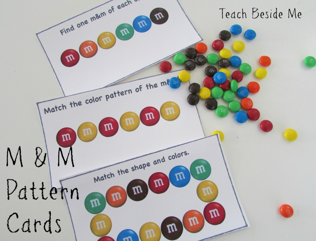 Free M Amp M Math Pattern Cards