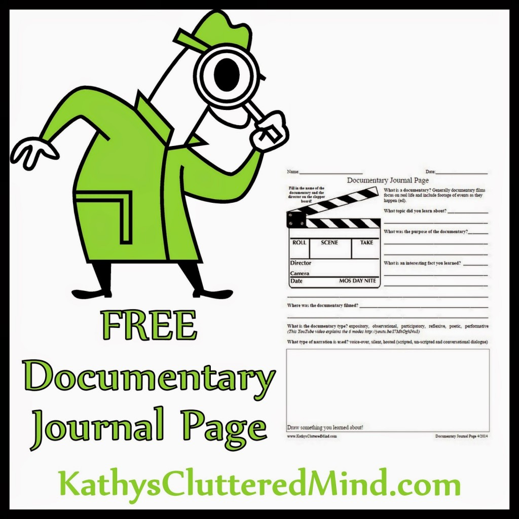 Notebooking Pages Free Documentary Journal Page