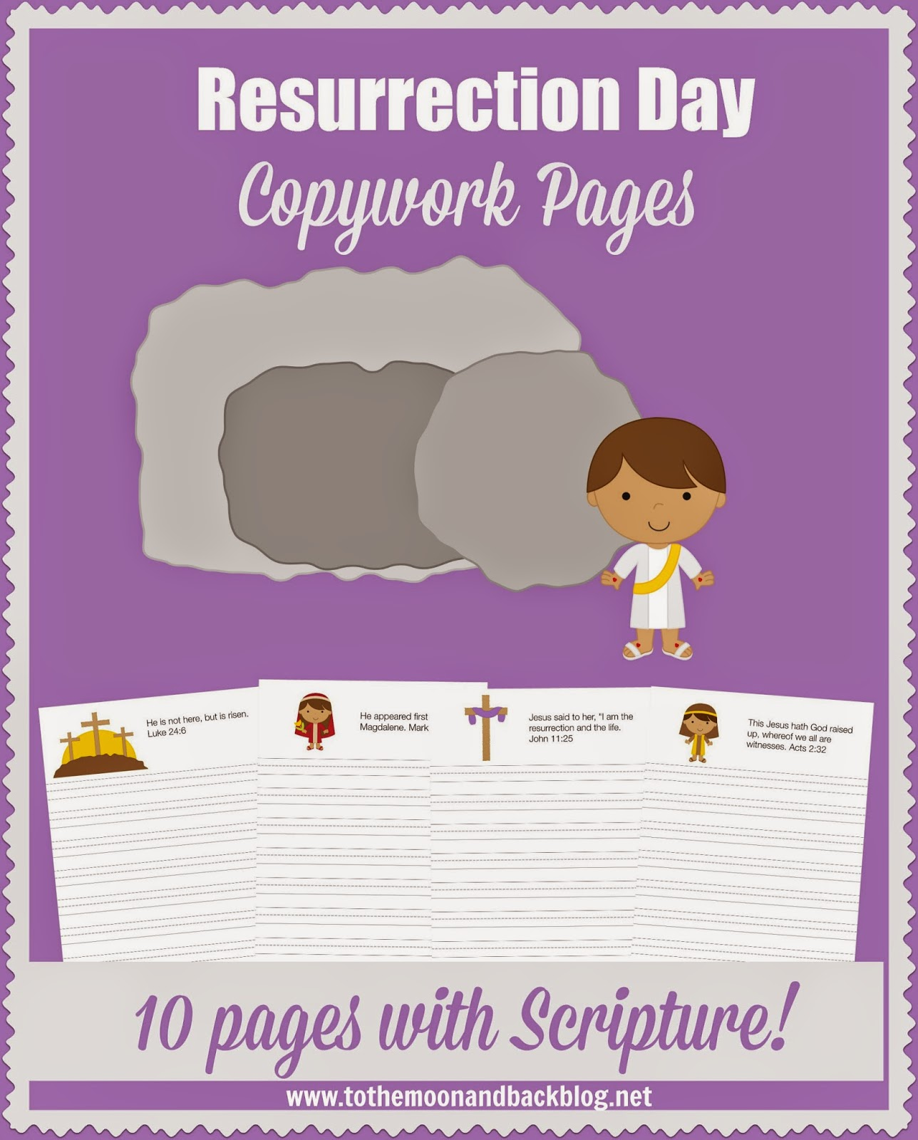 Free Resurrection Day Copywork Pages