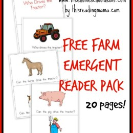FREE Farm Emergent Reader Pack (20-pages – Instant Download!)