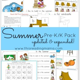 FREE Summer PreK-K Updated and Expanded Pack