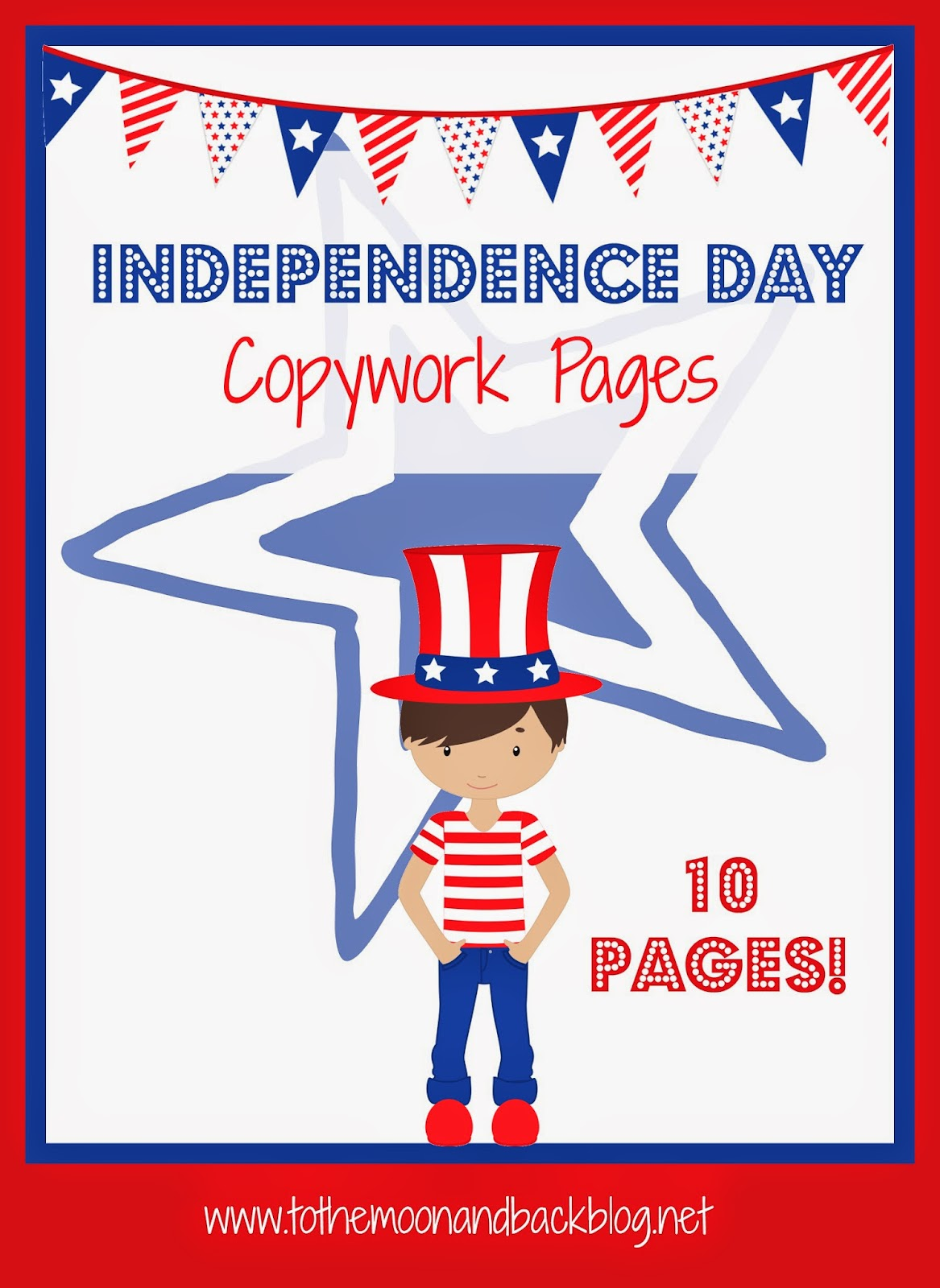 Free Independence Day Copywork Pack