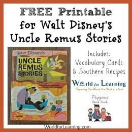 Uncle Remus Stories – FREE Printable