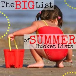 The Big List of Summer Bucket Lists