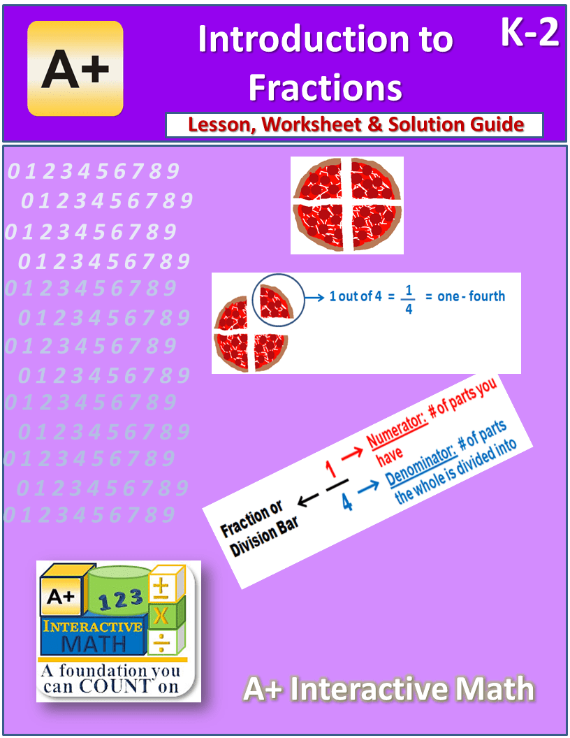 Free Introduction To Fractions Unit K 2 Lesson