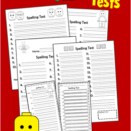 FREE Lego Spelling Test Printables and Blank Worksheets