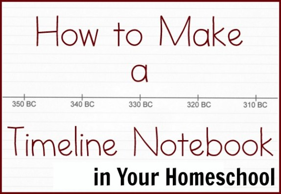 how to make a timeline notebook