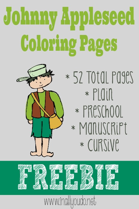 free johnny appleseed coloring pages  free homeschool deals