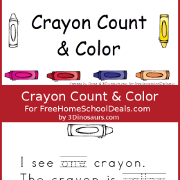 Free Worksheets: Crayon Count and Color