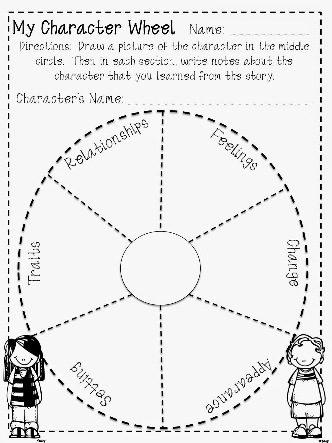 Reading Character Wheel Freebie