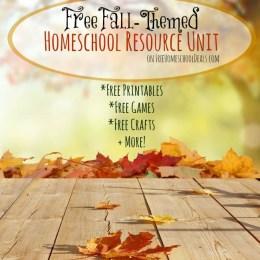 Free Fall Homeschool Resource Unit