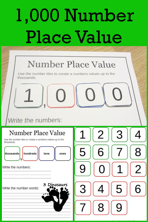 Free Number Place Value Printables