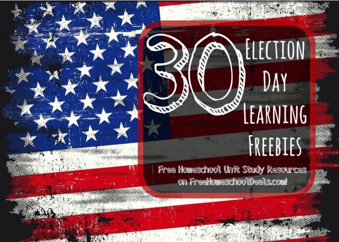 30 Election Day Learning Freebies: Free Homeschool Unit Study Resources