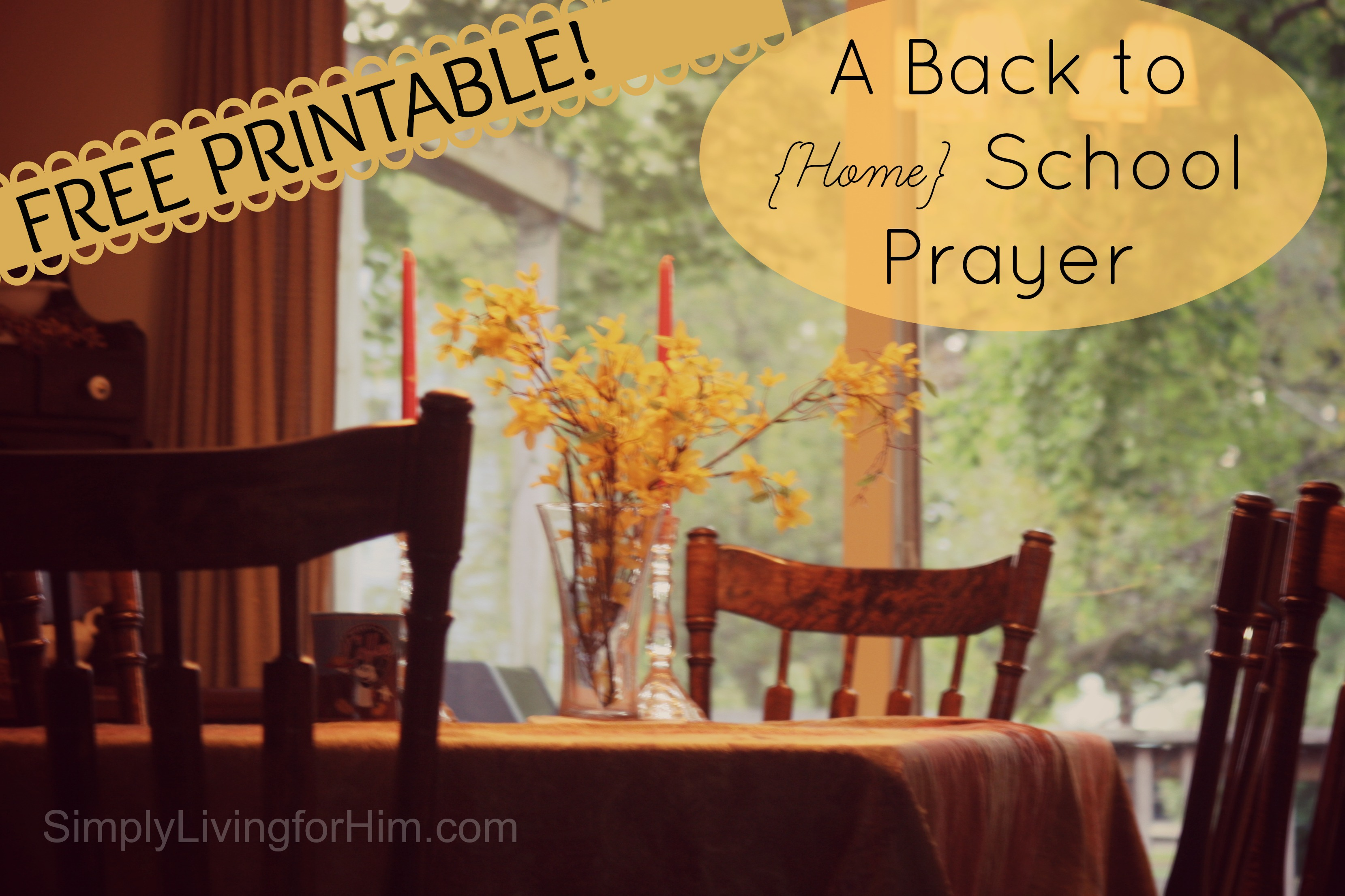 Free Mother S Prayer For Homeschooling Printable