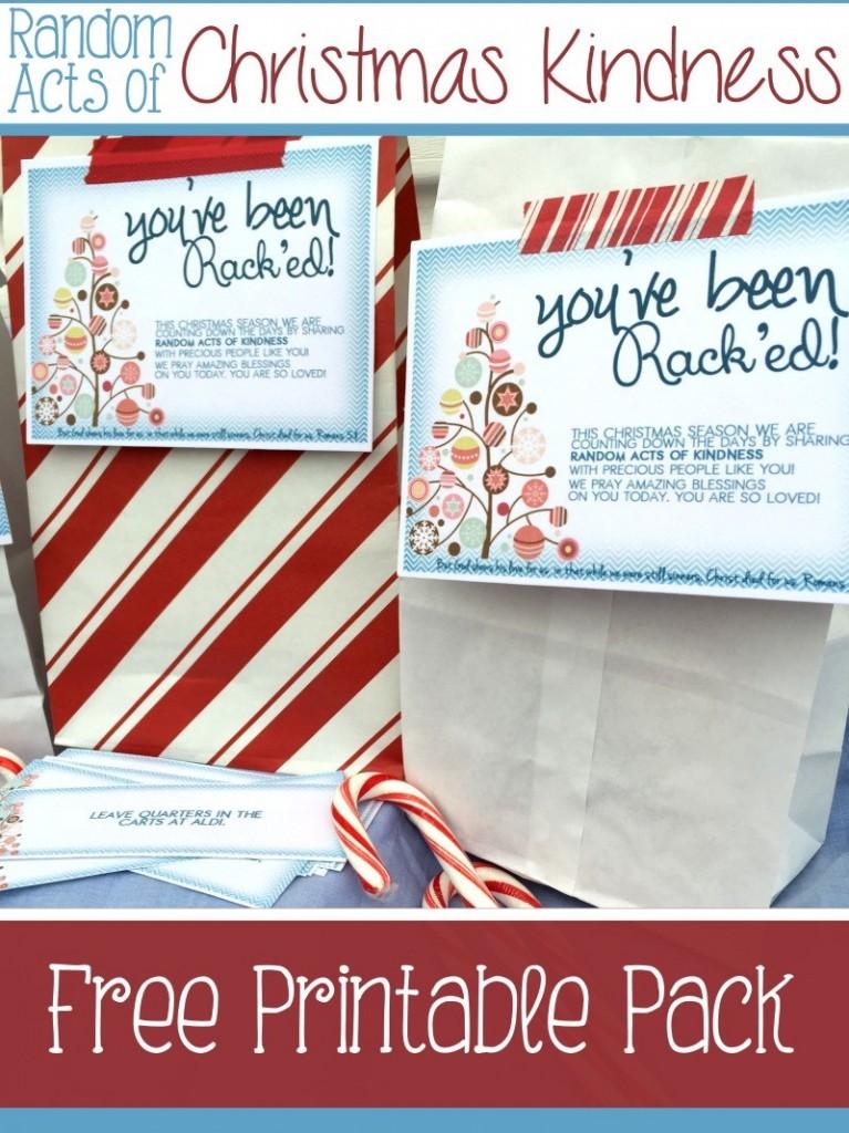FREE Random Acts Of Kindness Printables Free Homeschool