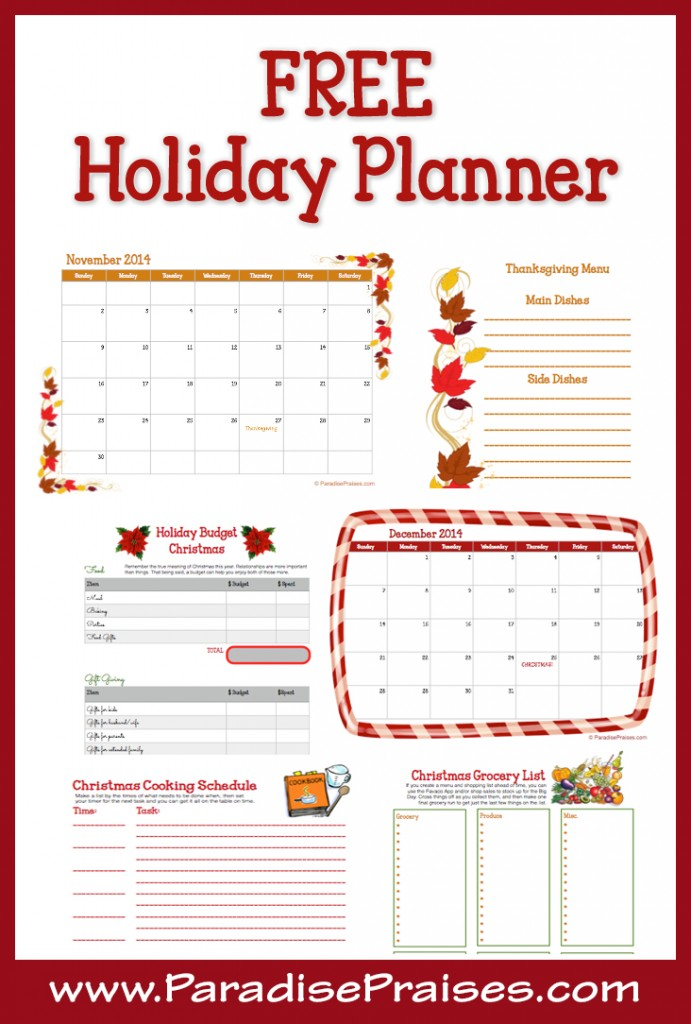 FREE 16 Page Holiday Planner Free Homeschool Deals