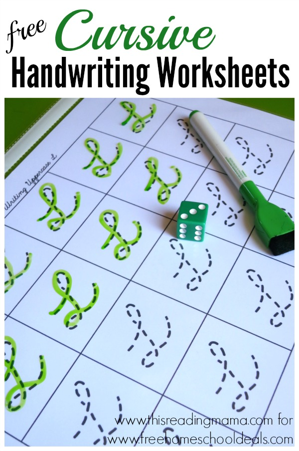 free cursive handwriting worksheets instant download free homeschool deals. Black Bedroom Furniture Sets. Home Design Ideas