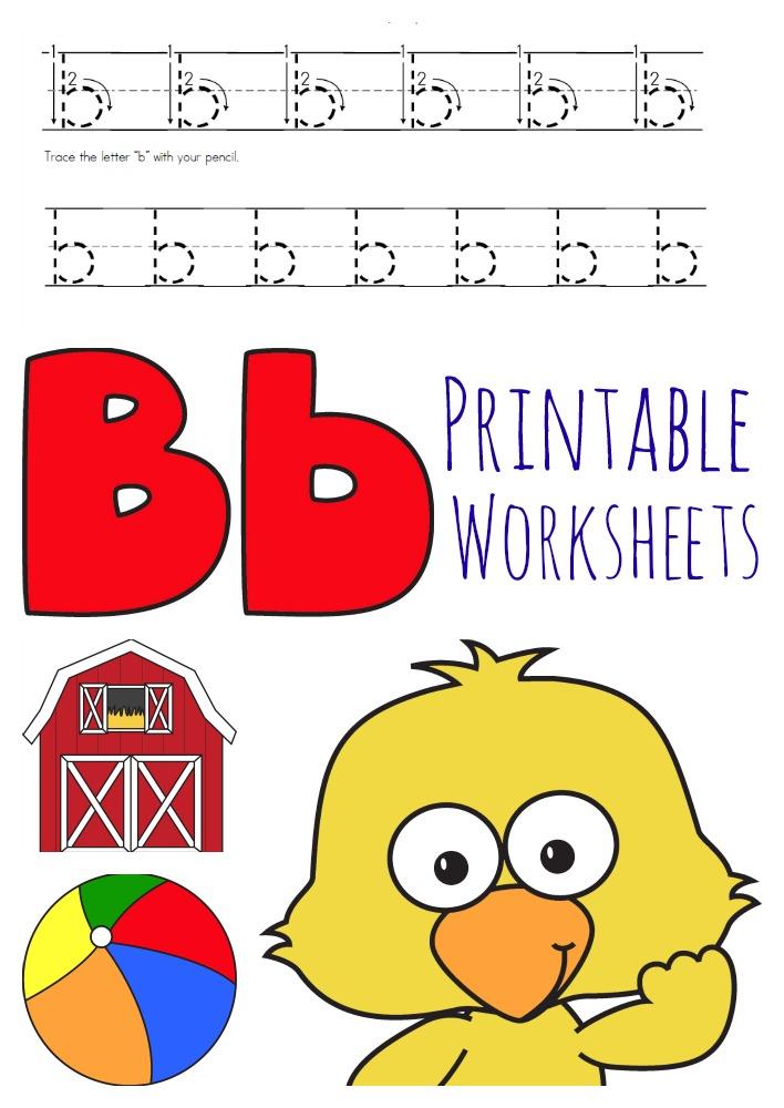 free letter b worksheets instant download free homeschool deals. Black Bedroom Furniture Sets. Home Design Ideas
