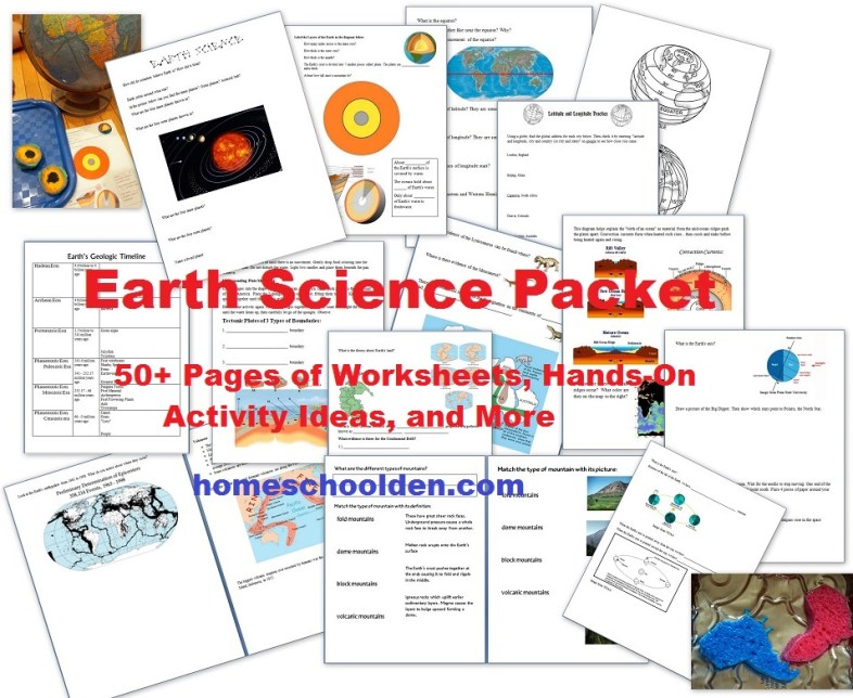 free earth science unit study 50 activities printables free homeschool deals. Black Bedroom Furniture Sets. Home Design Ideas