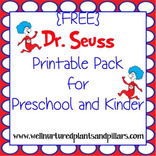 FREE Dr. Seuss Printables Pack | Free Homeschool Deals ©